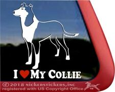 I Love My Collie | High Quality Vinyl Smooth Collie Dog Window Decal Sticker