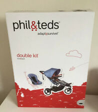 Phil and Teds Navigator Sport Double Kit Second Seat With Sun Cover in Black