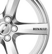 6 x Renault Alloy Wheels Decals Stickers Adhesives Premium Quality Scenic Clio
