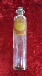 Antique Shell Petroleum - Sample Glass Bottle & Cork Stopper - 'Motor Spirit'