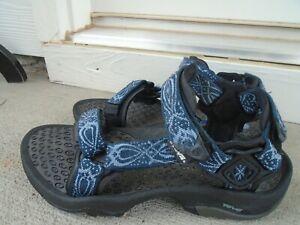 Womens Teva blue sport hiking sandals sz 8