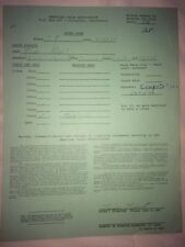 Tim Hart 500cc Class Montesa Torrance 1969 Inter-Am Motocross Files Entry Form