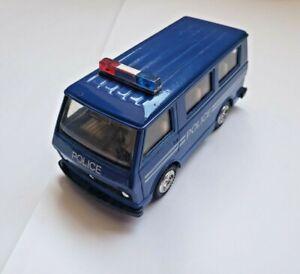 Vintage 80's Volkswagen LT Police Van Toy Diecast Car Scale model