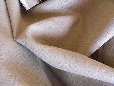 EDLES LEINEN JACQUARD  METERWARE STOFF  B 150 cm  NATUR GRAUBRAUN - WUNDERBAR!!