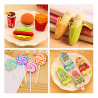 Cute Fruit Snacks Rubber Pencil Eraser Office Stationery Student Xmas Gift Toy