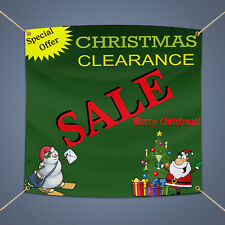 Christmas Clearance Sale Outdoor Business Shop Advertising Vinyl Banner 5' X 3'
