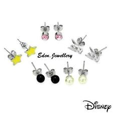 Lot of 5 Disney TINKERBELL Pink Crystal Star Faux Pearl Earring Cute Collectible