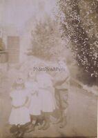 Foto Famille Tutte Le Bambini Francia Vintage Citrato Ca 1900