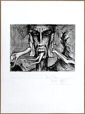Rare gravure originale Bernard BUFFET - Lucifer 1976 - signée au crayon