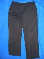 ROCKMANS NEW Charcoal  Grey PANTS Pinstripe Size 14 RRP$59.99 Slant Pockets
