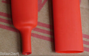 6Feet Red double-wall heat shrink tubing 25.4mm 3:1 adhesive tube