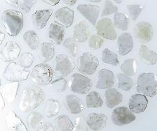 Natural Loose Diamond Slice White Grey Color 2.00 Ct Scoop Q11