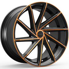 4-NEW Rosso Insignia 20X8.5 5x110/5x115 +38mm Black/Copper Wheels Rims