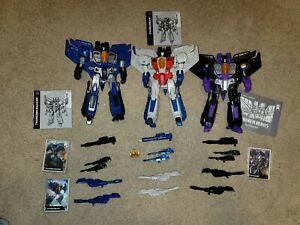 Transformers Leader Class Starscream/Thundercracker/Skywarp Combiner Wars Lot