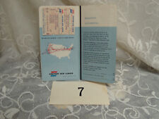 United Airlines Ticket Jacket,  2 tickets ,Boarding Pass 1955 Cleveland to Milwa