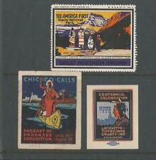 UNITED STATES 1920's INDIANS RAILWAY  CINDERELLA POSTER STAMPS