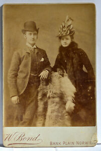 Cabinet Card of a Victorian Couple 1880's