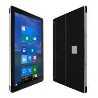 Skinomi Black Carbon Fiber Skin+Clear Screen Protector for Microsoft Surface Go