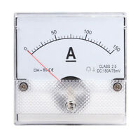 1PC Square Analog Panel AMP Current Meter DC 0-150A Ammeter Gauge DH-80 80*80