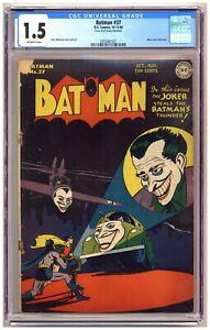 Batman 37 (CGC 1.5) Joker cover and story; Jerry Robinson; DC Comics; 1946 C701