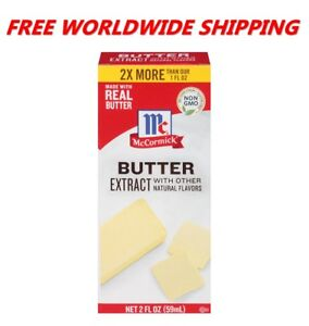 McCormick Pure Butter Extract Non GMO 2 Fl Oz WORLDWIDE SHIPPING