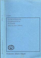 La Professione Giornalistica in Italia