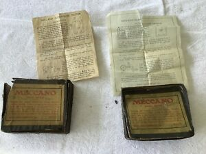 Meccano-2 American Spring Motor Boxes, early 1920s,with Instructions.