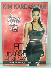 KIM KARDASHIAN~FIT IN YOUR JEANS BY FRIDAY~3 LEGS & BUTT WORKOUTS ~ AS NEW DVD