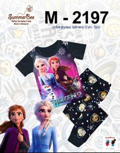 Frozen 2 Pyjamas Short Sleeve Top and Long Trousers