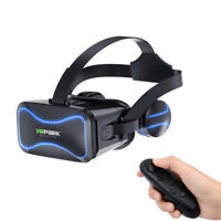 Google Headset 3D Virtual Reality VR With Remote Controller For iPhone Samsung