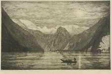 ALBERT SCHELLERER - Mondnacht am Königssee - Radierung 1920-1925