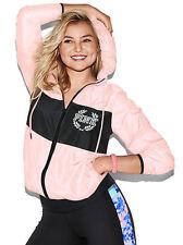 Victoria's Secret PINK BLACK Colorblock Anorak Jacket Windbreaker XS/S SMALL