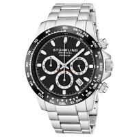 Stuhrling 891 02 Formulai Quartz Chronograph Stainless Steel Date Mens Watch