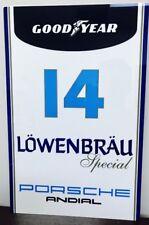 Premium HD Panel Aluminum  Lowenbrau Porsche Racing  Reproduction Garage Sign