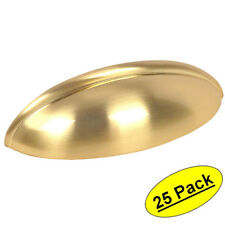 *25 Pack* Cosmas Cabinet Hardware Brushed Brass Bin Cup Handle Pulls #1399BB