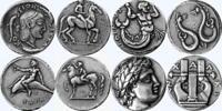 Artemis Triton Taras Apollo 4 Famous Greek Coins Percy Jackson Fans (4GREEKSET-S