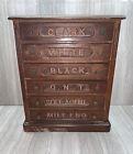 Vintage Antique Spool Cabinet 6 Drawer Clark Walnut Thread General Store Sewing