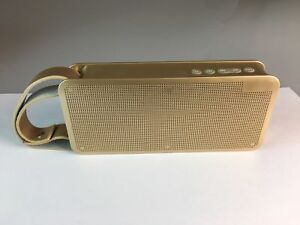 Portable Gold Oblong Wireless Bluetooth Cube Speaker