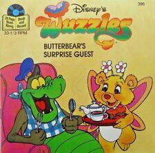 WUZZLES BUTTERBEAR 396 Disney Read Along Book & Record Set Certified Mint SEALED