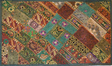 Antique Hand Embroidered Sequin Work Wall Tapestry, Table Cover from India