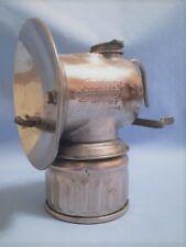 NP JUSTRITE Miners Carbide Lamp, date 1912, Vintage Mining Light, coal caving