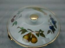 Nice Royal Worcester England Evesham gold fruit casserole lid pot