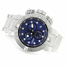 "Invicta Men's 50mm ""THE Subaqua"" Quartz Blue Dial Stainless Steel Watch  New"