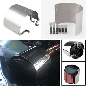 """Car Modified 2.5"""" to 5"""" Air Intake Filter Heat Shield Cover Guard Protector"""