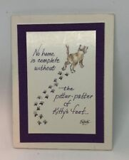Handmade Pitter-Patter of Kitty's Feet Magnet by Special Thoughts Pam Elifritz