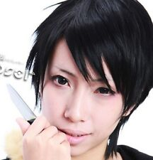 W-30 Durarara!! Izaya Orihara Ruffy Luffy COSPLAY Perücke WIG schwarz black kurz