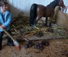 Pferdeäpfel / haufen 4 Stück für Schleich Pferde Zubehör Modellpferde