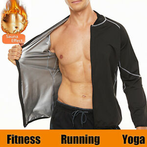 Sauna Suit Hot Polymer Sweat Shirt Thermal Tops Body Shaper For Men Gym Training