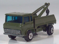 """Vintage Yatming 1960s Style Chevrolet COE Wrecker Tow Truck 3"""" Scale Model Green"""