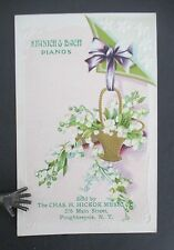 KRANICH & BACH PIANOS Poughkeepsie NY Advertising Postcard